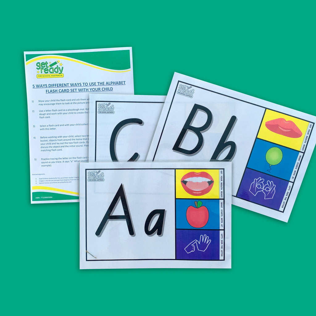 Printable Alphabet Flash Cards - Get Ready For School Australia