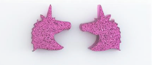 Magenta Glitter Unicorn Earrings - Get Ready For School Australia