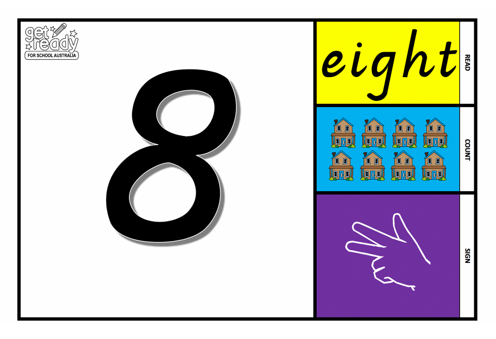 Printable Number Flash Cards 1-10 - Get Ready For School Australia
