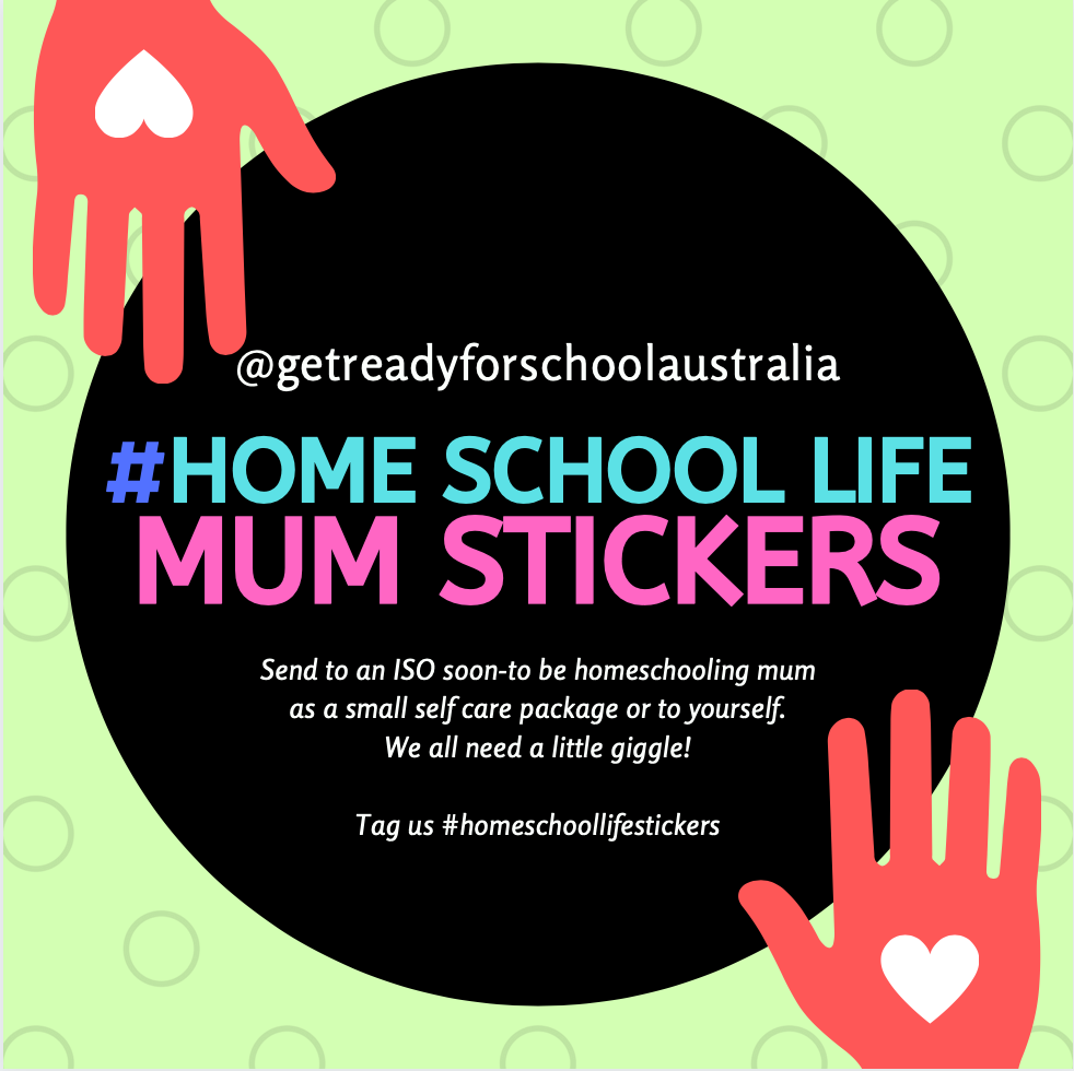 Home School Life Mum Stickers - Pack of 24 - Gloss (includes 6 designs) - Get Ready For School Australia