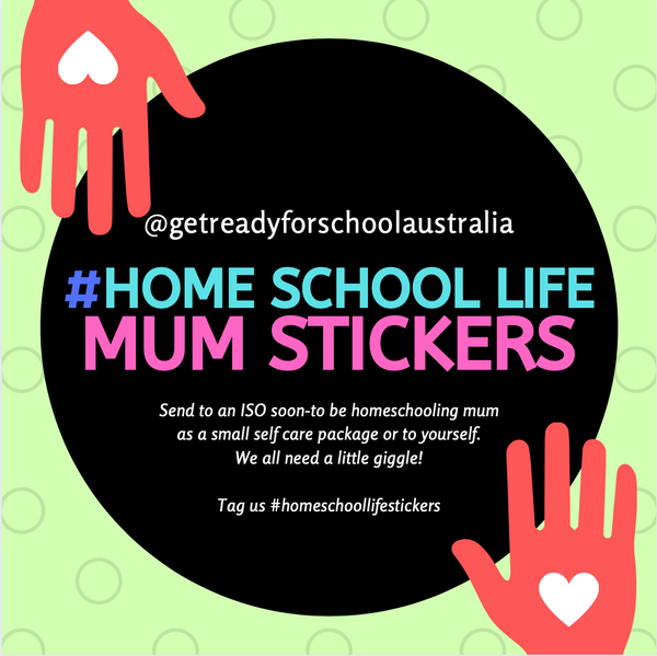 Home School Life Mum Stickers - Pack of 24 - Gloss (includes 6 designs)