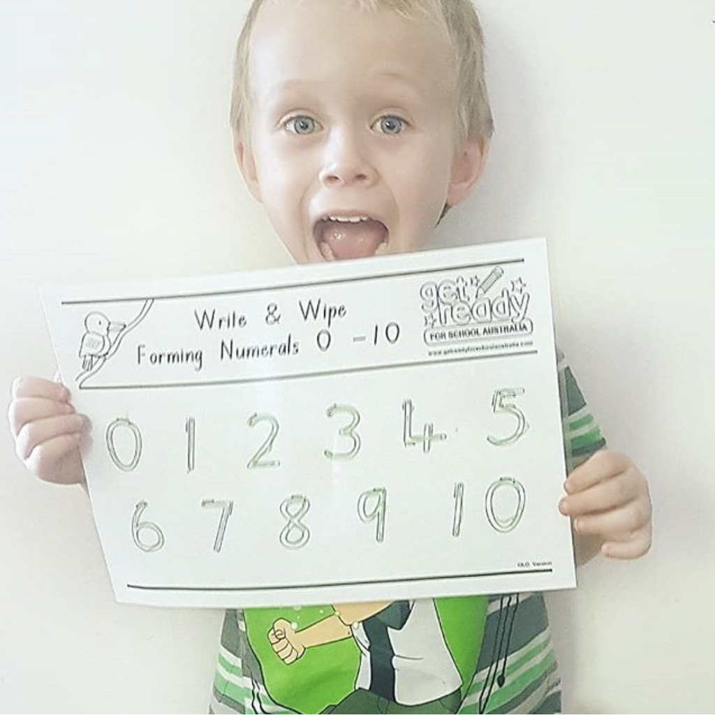 FORMING NUMERALS - WRITE AND WIPE - Get Ready For School Australia