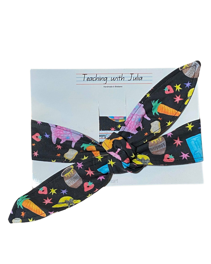 "Handmade ""Magical stories inspired"" wrap headband - Get Ready For School Australia"