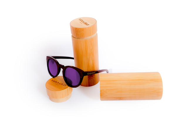 Viola Gray Eyewear - Wooden Bamboo Sunglasses