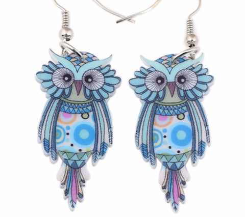 Big Owl Dangle Earrings - UniValley