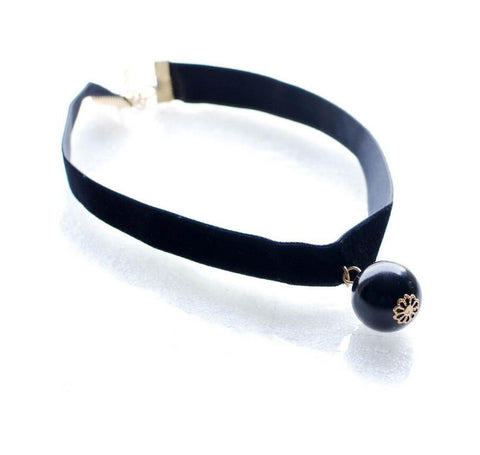 Black Velvet Choker Necklace - UniValley