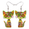 Crazy Cat Dangle Earrings - UniValley