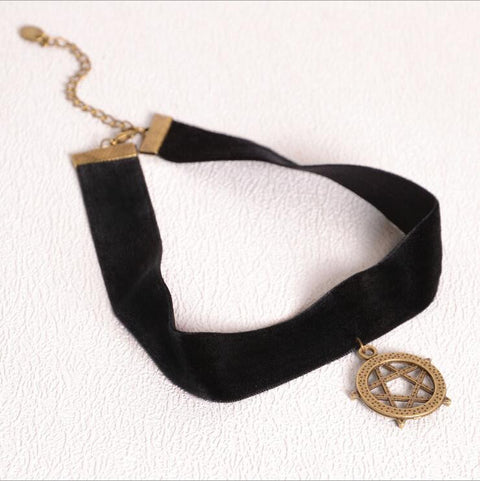Black Velvet Ribbon Choker Necklace - UniValley