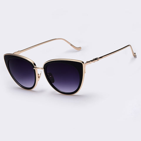 Metal Frame Cat Eye Sunglasses - UniValley