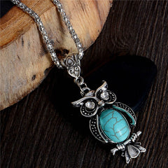 Owl Turquoise Necklace