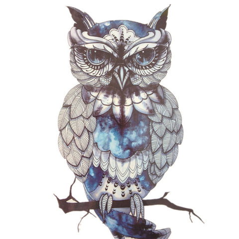 Blue Owl Temporary Tattoo - UniValley