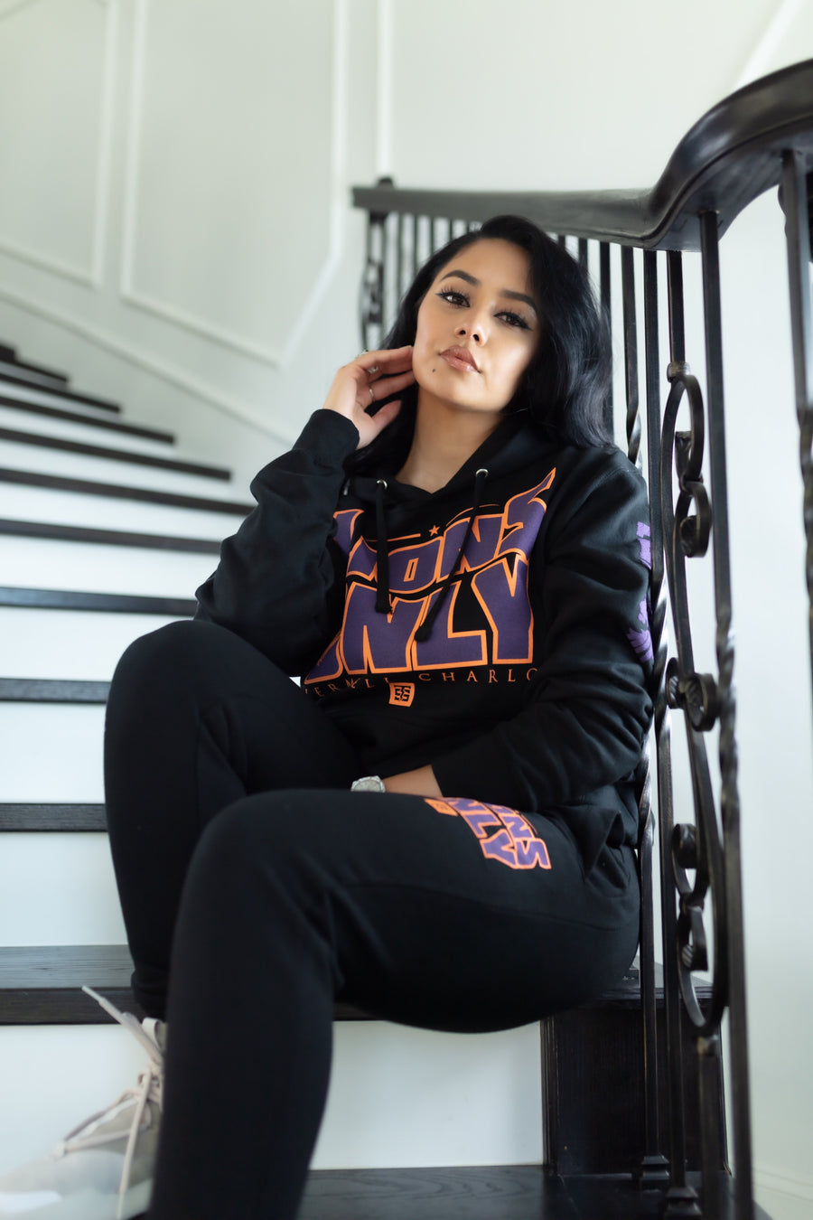 Purple/Orange/Black Track Suits