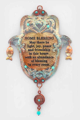 English Home Blessing and Fish Hamsa - Chaya & Raphael's Galleries
