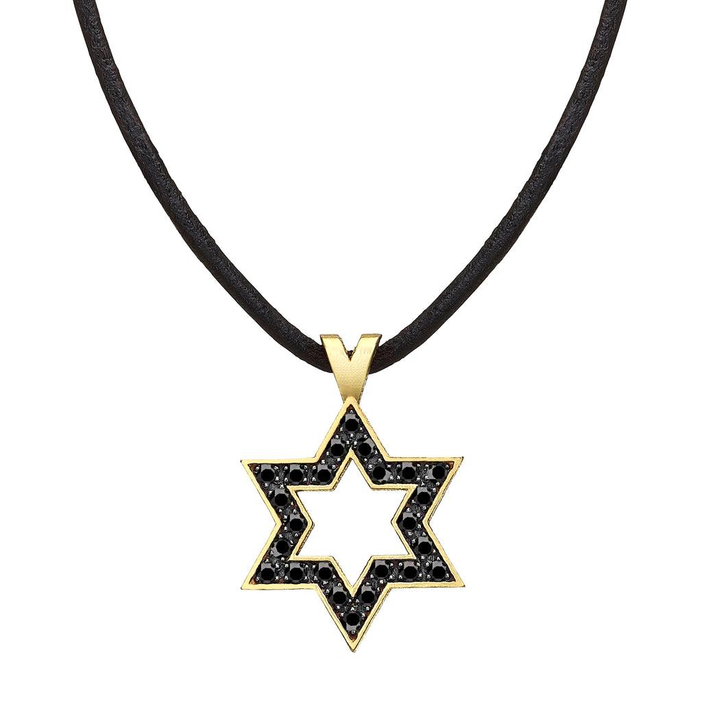 Star of David set with Black diamonds - Chaya & Raphael's Galleries