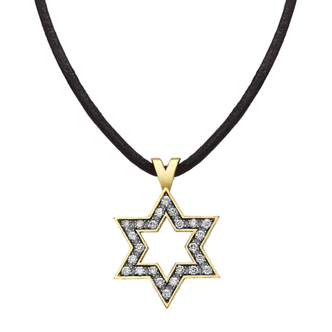 Star of David set with Diamonds
