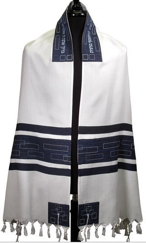 Tallit BR Navy - Chaya & Raphael's Galleries
