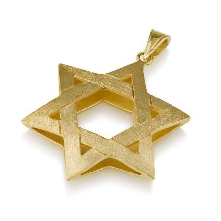 Pendant - 14K Star of David Pendant (VI) - Chaya jewelry, Jerusalem