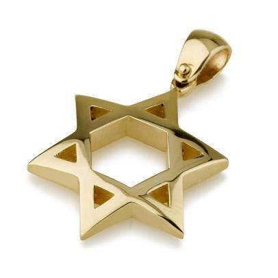 Pendant - 14K Star of David Pendant - Chaya jewelry, Jerusalem