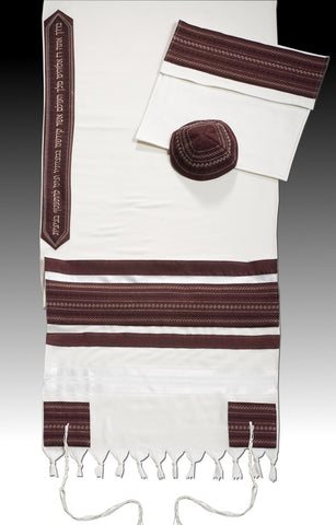 Tallit CL - Burgundy - Chaya & Raphael's Galleries