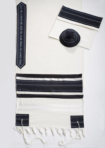 Tallit CL - Navy Blue - Chaya & Raphael's Galleries