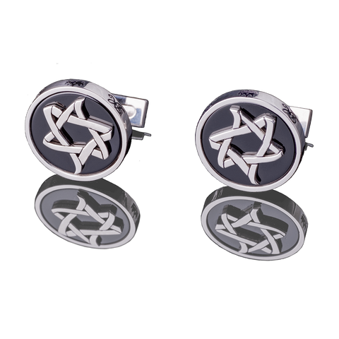 "CUFFLINKS - ""ICE AND FIRE"" - Chaya jewelry, Jerusalem"