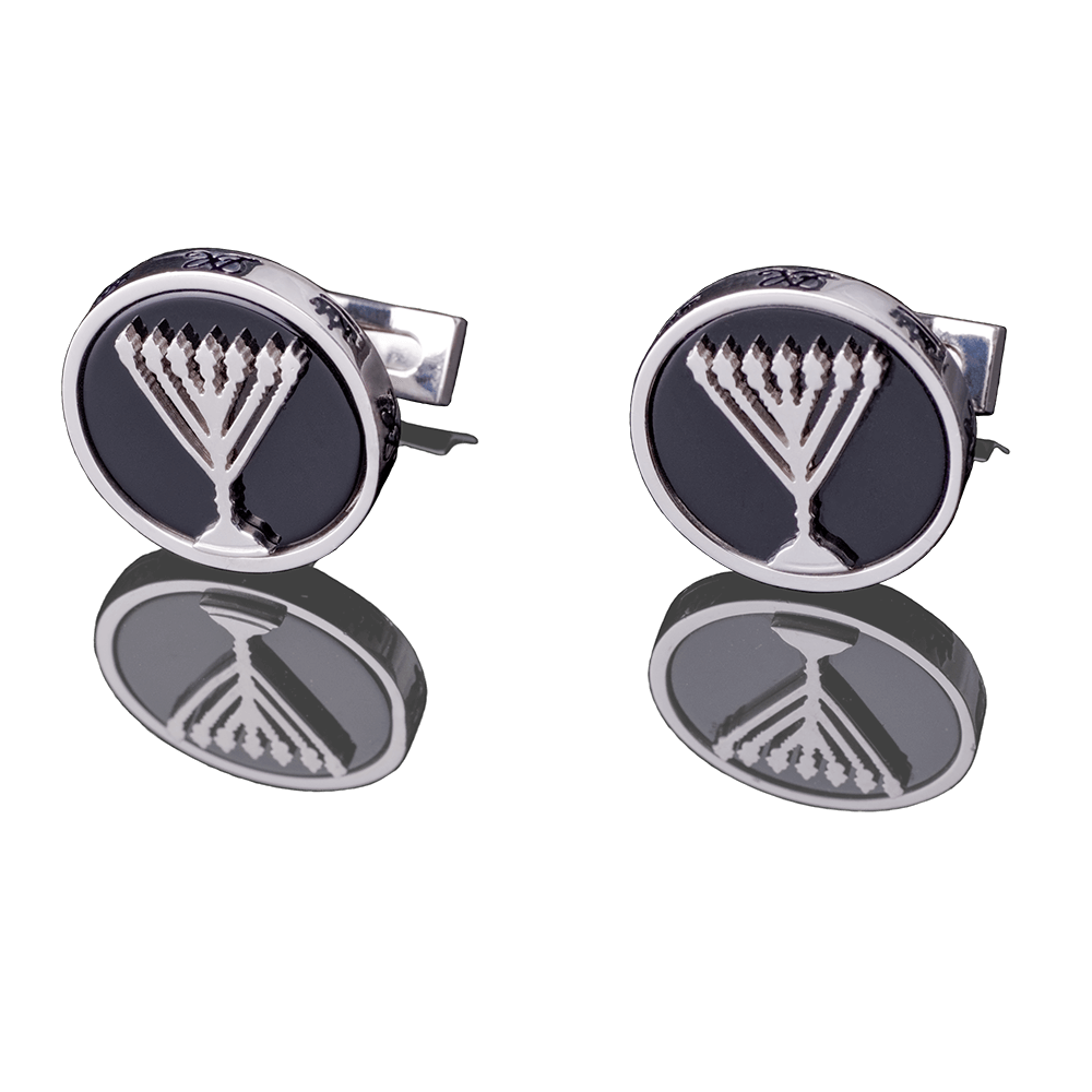 "CUFFLINKS - ""MENORAH"" - Chaya & Raphael's Galleries"