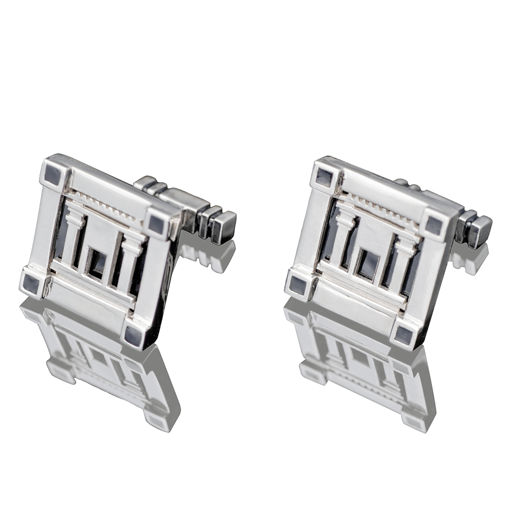 "CUFFLINKS - ""TEMPLE OF JERUSALEM"" - Chaya & Raphael's Galleries"