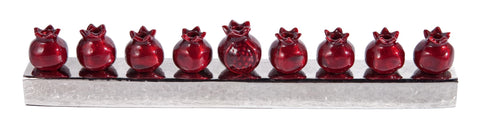 Hanukkah Menorah - Pomegranates - Chaya & Raphael's Galleries