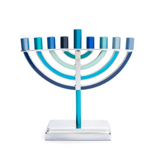 Hanukkah Menorah Classic (Blue) - Chaya & Raphael's Galleries