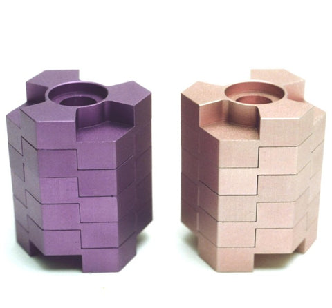 Menorah - Lego Stack Colored Reversible Menorah Candlesticks - Chaya & Raphael's Galleries
