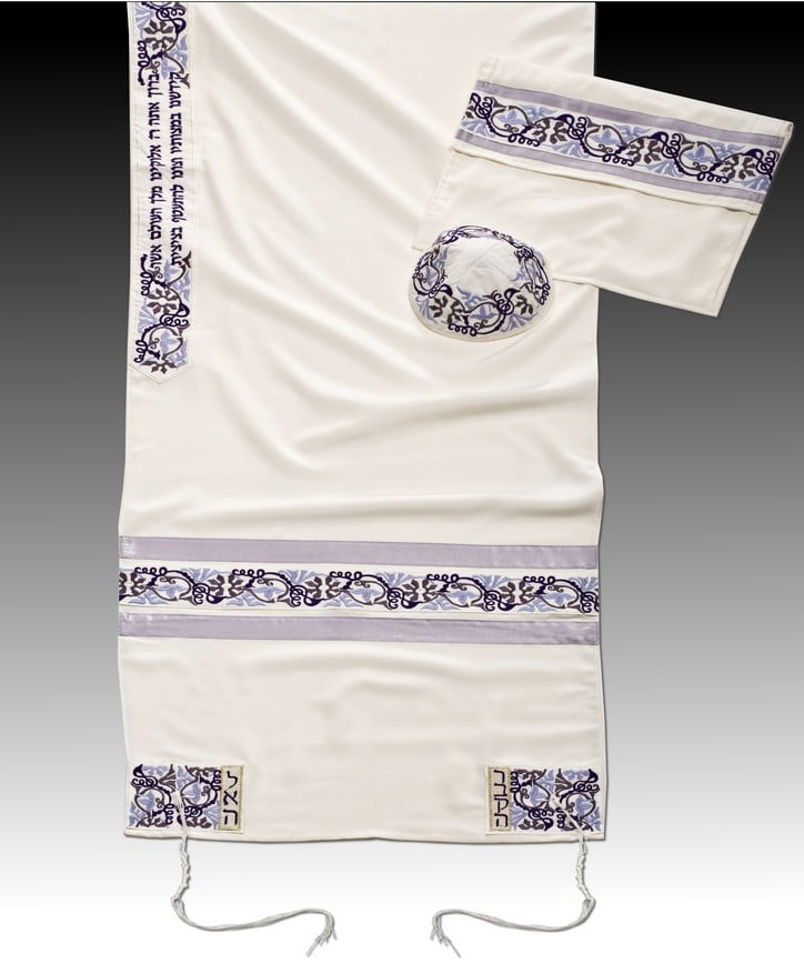 Women's Tallit MT L.Purple - Chaya & Raphael's Galleries