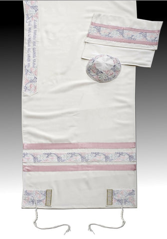 Women's Tallit MT Pink - Chaya jewelry, Jerusalem