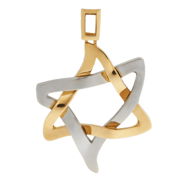PENDANT «ICE AND FIRE» with GOLD - Chaya jewelry, Jerusalem
