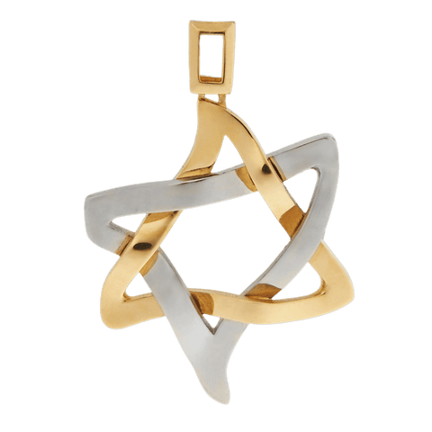 PENDANT «ICE AND FIRE» with GOLD - Chaya & Raphael's, Israel
