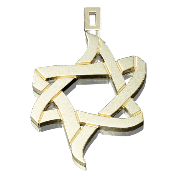 PENDANT «ICE AND FIRE» with GOLD - Chaya & Raphael's Galleries