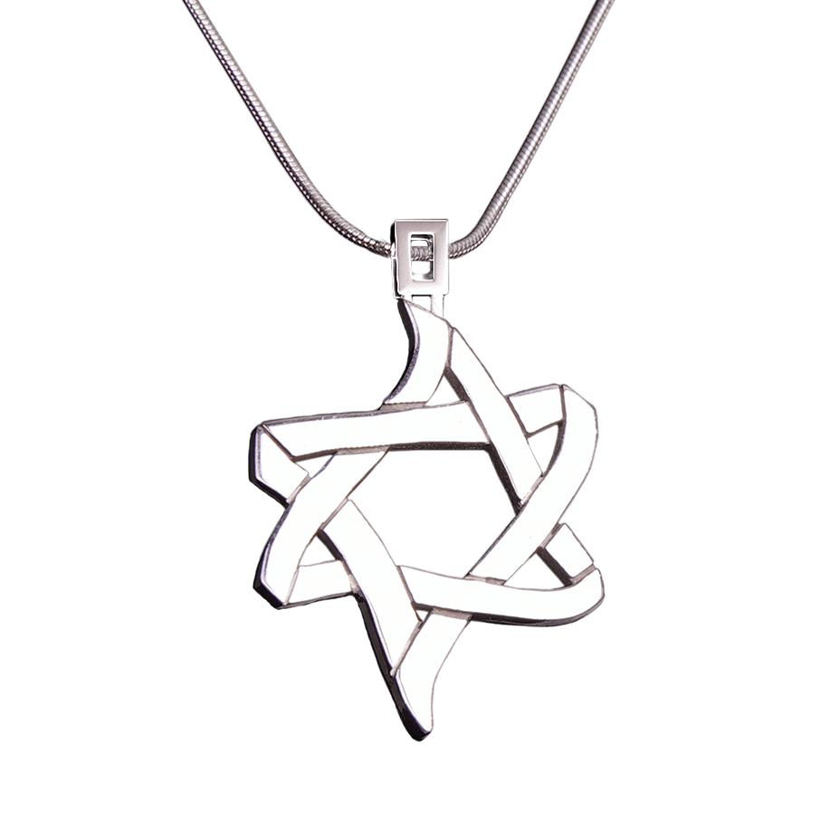 PENDANT «ICE AND FIRE» with SILVER - Chaya jewelry, Jerusalem