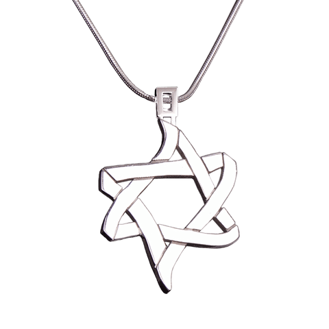 PENDANT «ICE AND FIRE» with SILVER - Chaya & Raphael's, Israel
