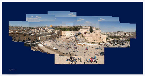 A Panoramic view of the Western Wall - Chaya jewelry, Jerusalem