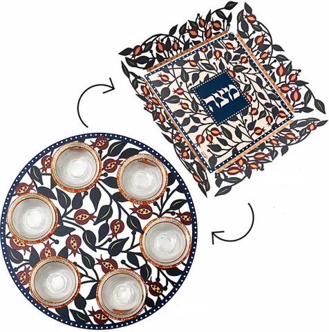 Seder Plate and Matzah Plate II - Chaya & Raphael's Galleries