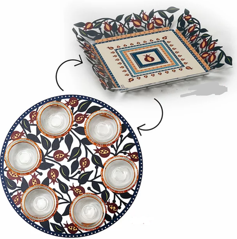Seder Plate and Matzah Plate III - Chaya & Raphael's Galleries
