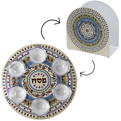 Seder Plate and Matzah Stand - Chaya & Raphael's Galleries