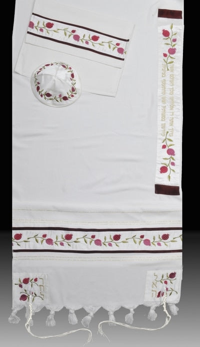 Women's Tallit Pomegranate - Chaya & Raphael's Galleries