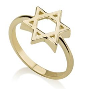 Ring - 14K Star of David Ring - Chaya & Raphael's Galleries
