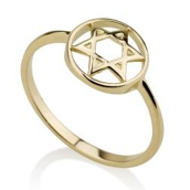 Ring - 14K Star of David (small) Ring - Chaya & Raphael's Galleries
