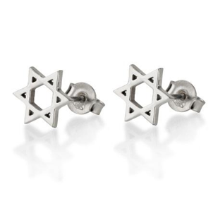 Earrings - Star of David Earrings - Chaya & Raphael's Galleries