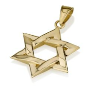 Pendant - 14K Star of David Pendant (XI) - Chaya jewelry, Jerusalem