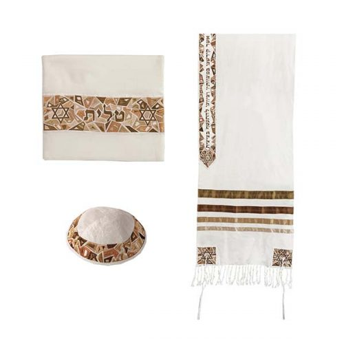 "Tallit - ""Magen David"" - 20"" Gold - Chaya & Raphael's Galleries"