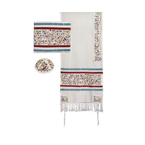 Tallit - Full Embroidery - Matriarchs - Multi-Color - Chaya & Raphael's Galleries
