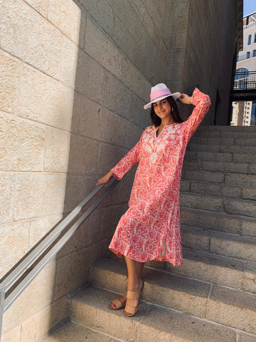 Summer Straw Hats - Wild Pink - Chaya jewelry, Jerusalem