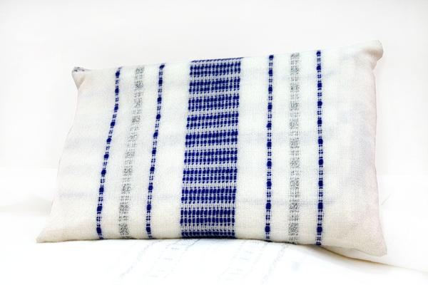 Wool Tallit - Blue and Silver